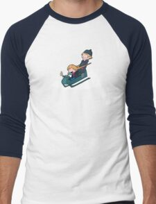 A Snowy Ride Men's Baseball ¾ T-Shirt