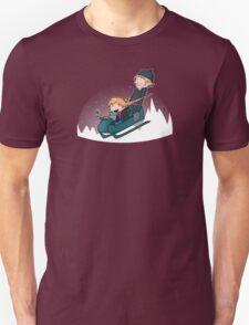 A Snowy Ride Unisex T-Shirt