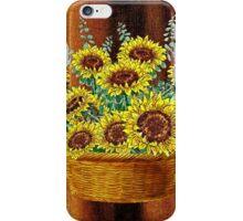 Happy Sunflowers Basket iPhone Case/Skin