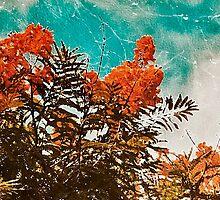 Texturized Flowers by DFLC Prints