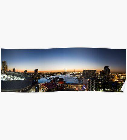 Docklands Panorama Poster