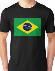 Brazilian flag and football Unisex T-Shirt