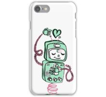 Valentine's Day Robot Blue Pink iPhone Case/Skin