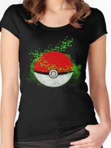 Pokeball Grass Type Pokemon (All pure grass type pokeball) Women's Fitted Scoop T-Shirt