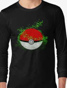 Pokeball Grass Type Pokemon (All pure grass type pokeball) Long Sleeve T-Shirt
