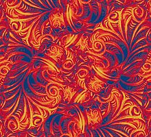 Vibrant Swirls by DFLC Prints