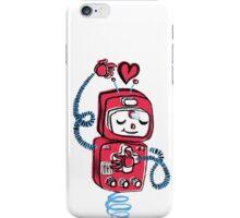 Valentine's Day Robot Pink Blue iPhone Case/Skin