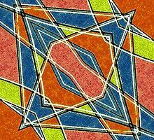 Diagonal Diamonds by DFLC Prints