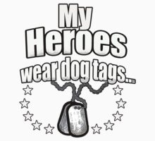My Heroes wear dog tags Baby Tee