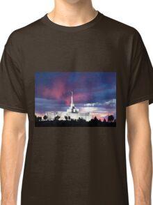 Snowflake Arizona Temple - Stormy Sunset 30x20 Classic T-Shirt