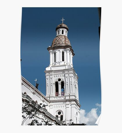 Church Tower in Cuenca Poster