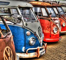 Campervan in a row by AndyHuntley