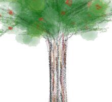 Plain Painted Apple Tree Sticker
