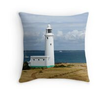 Hurst Point Lighthouse Throw Pillow