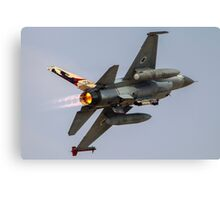 Israeli Air Force (IAF) F-16A (Netz) Fighter jet at takeoff  Canvas Print