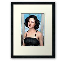 Vintage Woman Framed Print