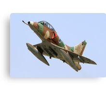 Israeli Air Force (IAF) Skyhawk (Ayit) fighter jet in flight Canvas Print