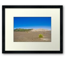 Desert scenery in Bromo Framed Print