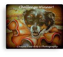 Challenge Winner Banner Canvas Print