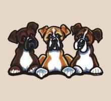 Three Boxers by offleashart