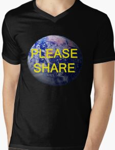 Please Share, T Shirts & Hoodies. ipad & iphone cases Mens V-Neck T-Shirt