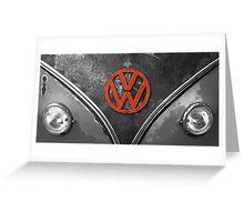 VW Badge Greeting Card