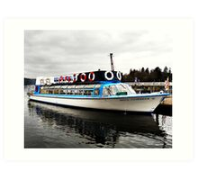 Passenger Boat Lake Windermere Art Print