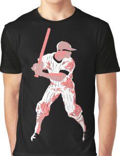 Awaiting the pitch, retro baseball pop art Graphic T-Shirt