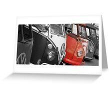 VW Campervans Greeting Card