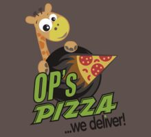 OP's Pizza Delivers (large - no pun intended) One Piece - Short Sleeve