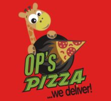 OP's Pizza Delivers (small pocket) One Piece - Short Sleeve
