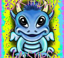 Monster Birthday Wishes Card by Sookiesooker