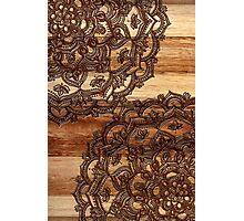 Burnt Wood Chocolate Doodle Photographic Print
