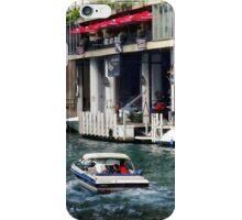 Chicago IL - Motorboat Near Dearborn Street Bridge iPhone Case/Skin