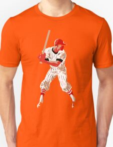 Awaiting the pitch, retro baseball pop art T-Shirt
