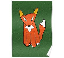 Crumpled Fox Poster