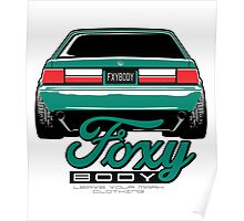 Foxy Body Mustang Poster