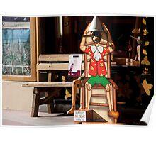 Pinocchio Bench Poster