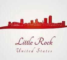 Little Rock skyline in red by paulrommer