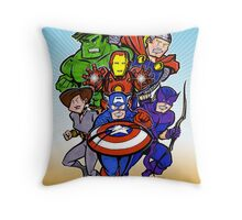 Mighty Heroes Throw Pillow