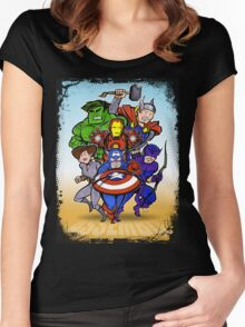Mighty Heroes Women's Fitted Scoop T-Shirt