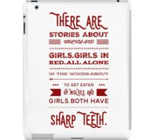 girls and wolves iPad Case/Skin