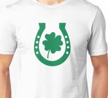 Horseshoe shamrock luck Unisex T-Shirt