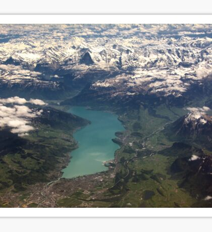 Lake Thun: North Face of the Eiger, Moench and Jungfrau Sticker