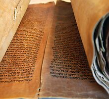 Ancient handwritten Torah scrolls from Yemen  by PhotoStock-Isra