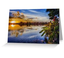 Sun sets blue Greeting Card