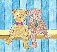 A Couple Bears on a Shelf by gt6673