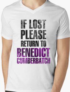 If lost please return to Benedict Cumberbatch Mens V-Neck T-Shirt