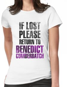 If lost please return to Benedict Cumberbatch Womens Fitted T-Shirt
