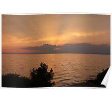 Lake Winnebago sunset. Poster